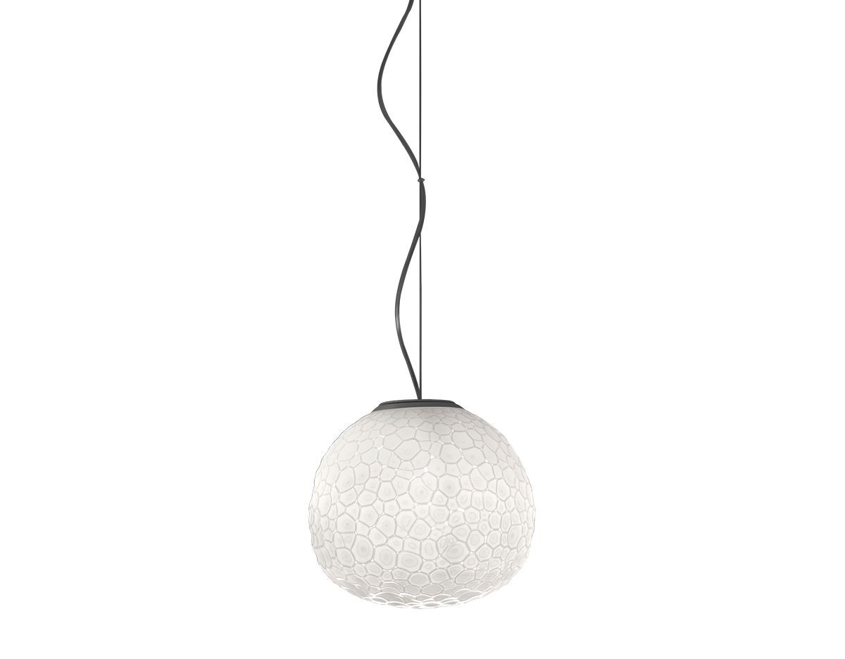 Artemide meteorite suspension lamp for Suspension 4 lampes