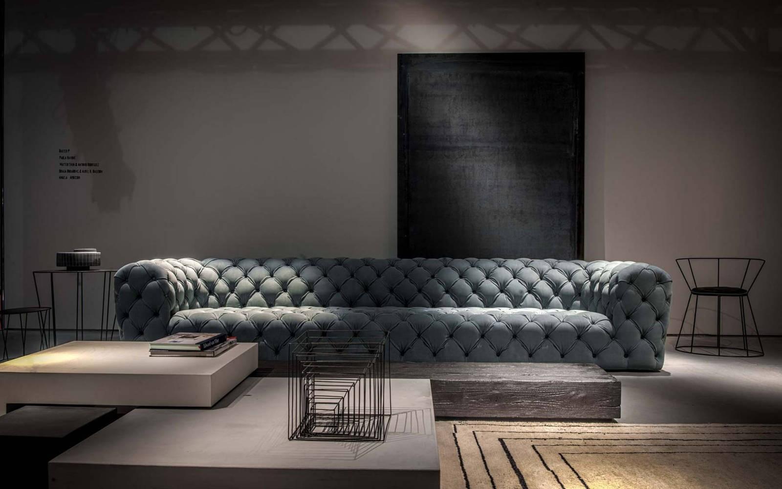 Baxter Chester Moon Sofa Grey