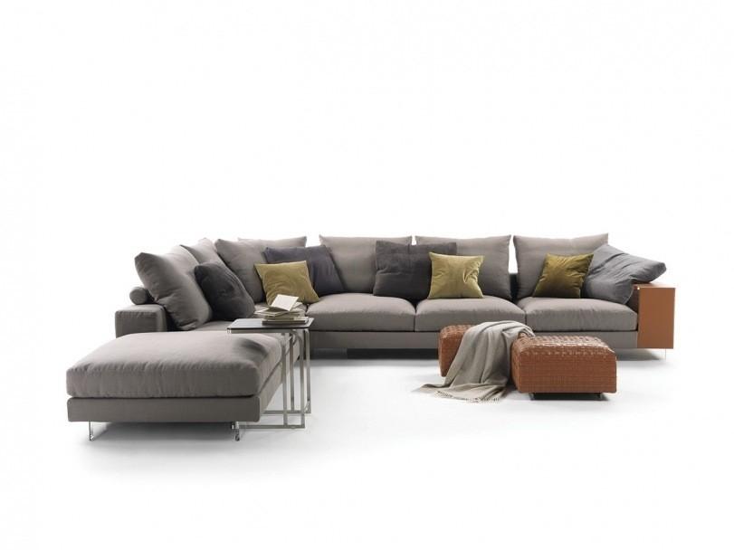 Flexform lightpiece sofa for Divani componibili moderni