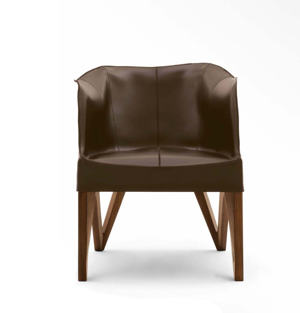 Giorgetti Mobius 62900 Saddle Leather Armchair