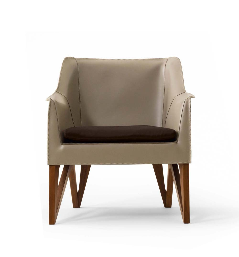 Giorgetti Mobius 62910 Saddle Leather Armchair