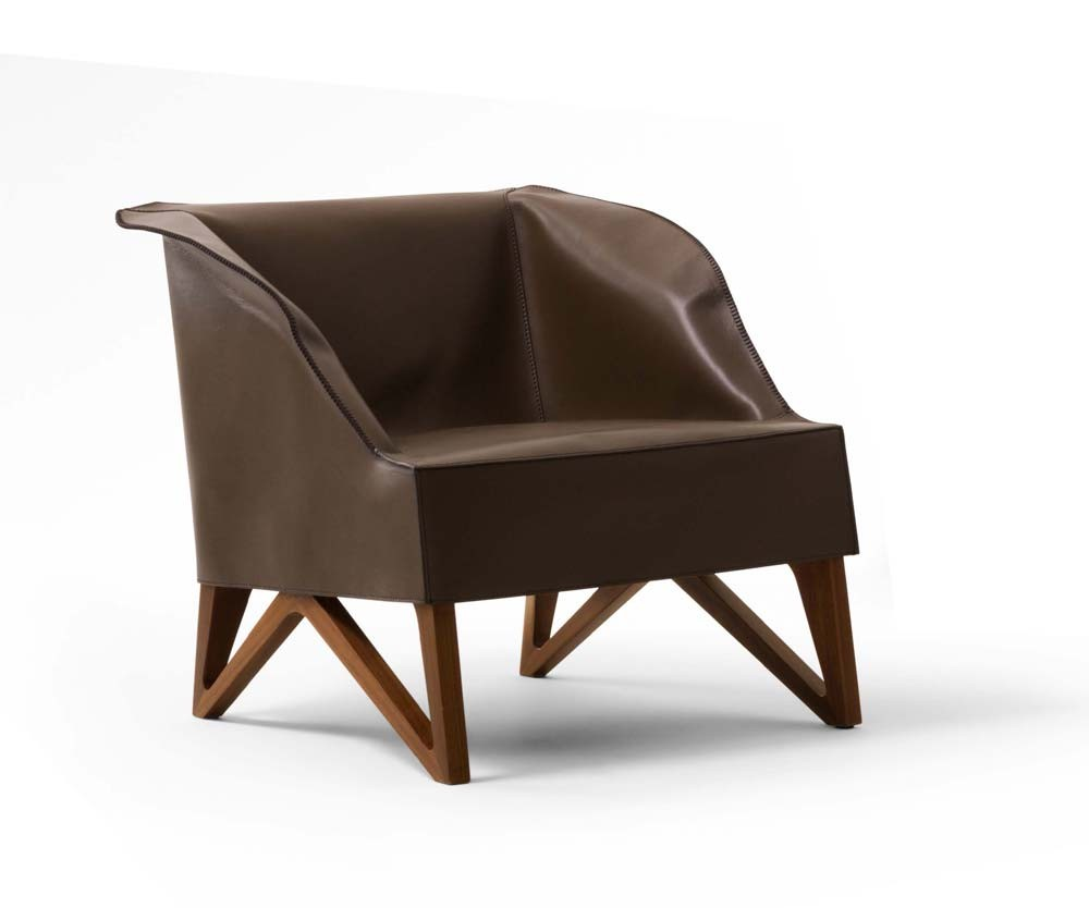 Giorgetti Mobius 62920 Saddle Leather Armchair