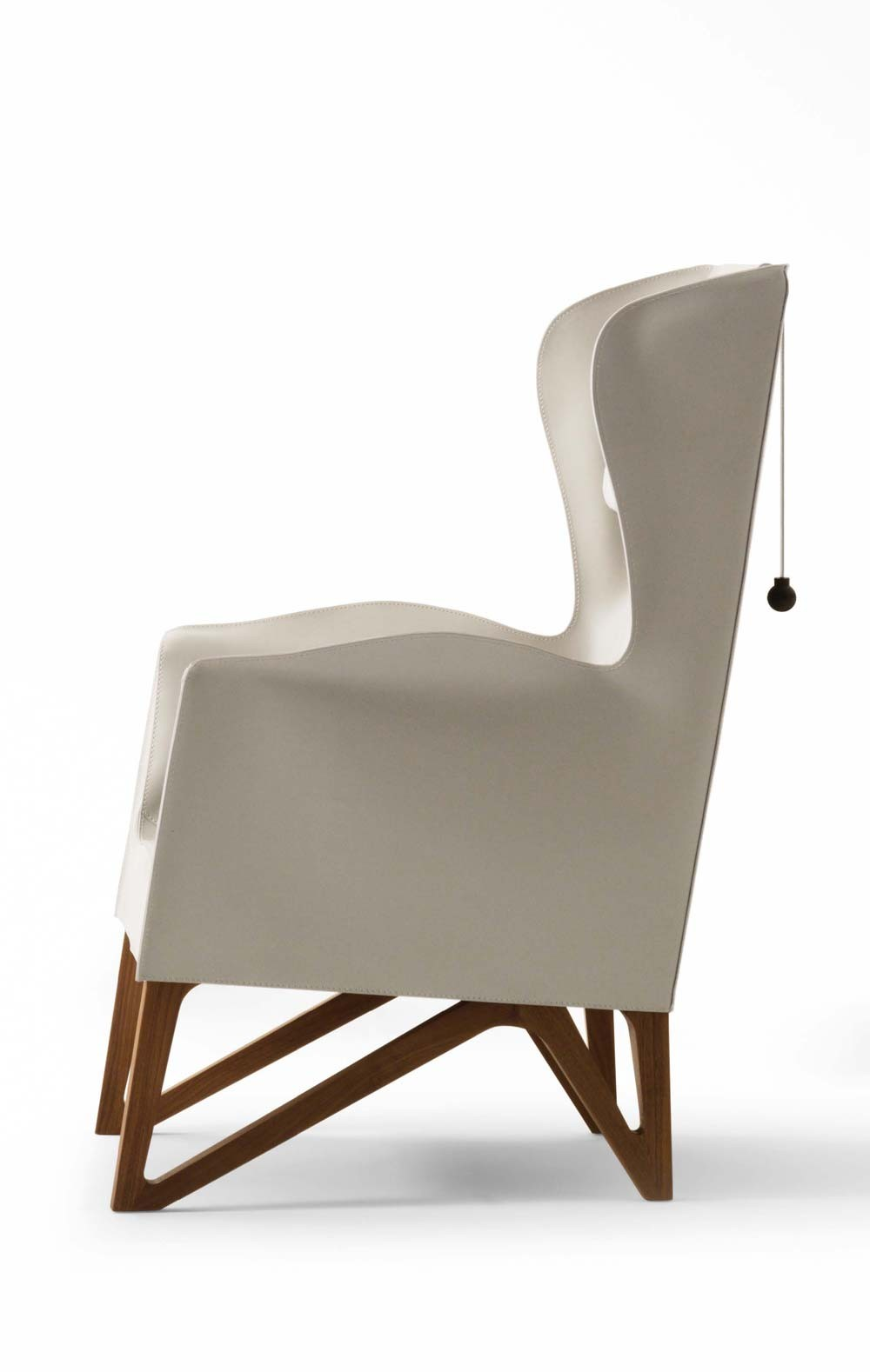 Giorgetti Mobius 62930 Saddle Leather Wing Armchair