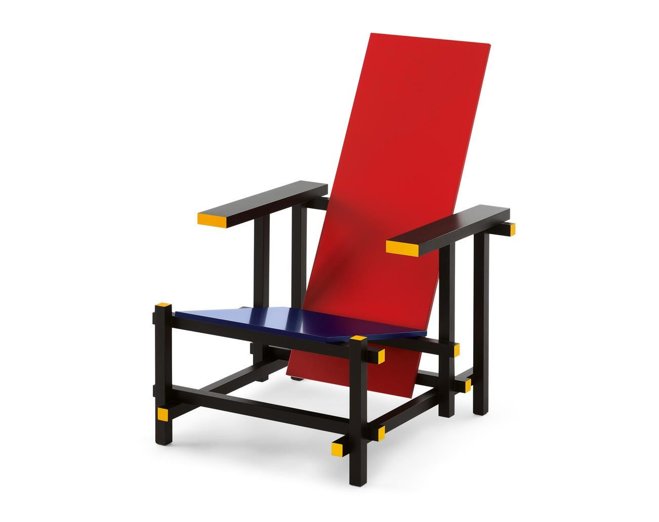 Cassina Red and blue Armchair | Deplain.com