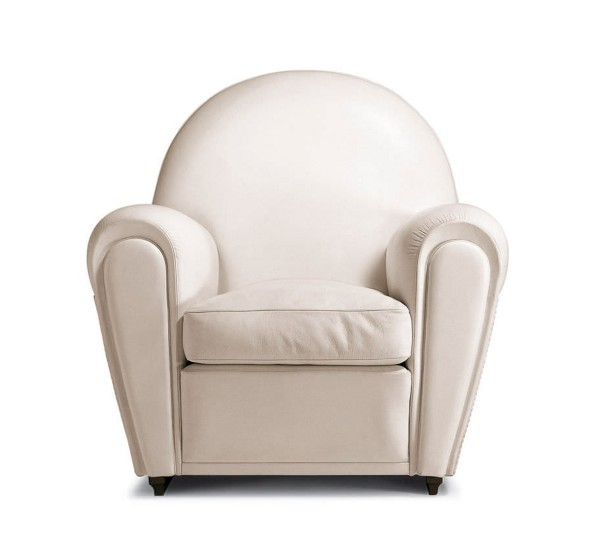 Poltrona frau vanity fair white armchair for Divano biposto