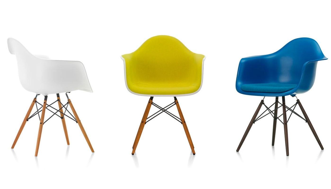 Vitra Eames plastic armchair DAW Armchair   Deplain.com