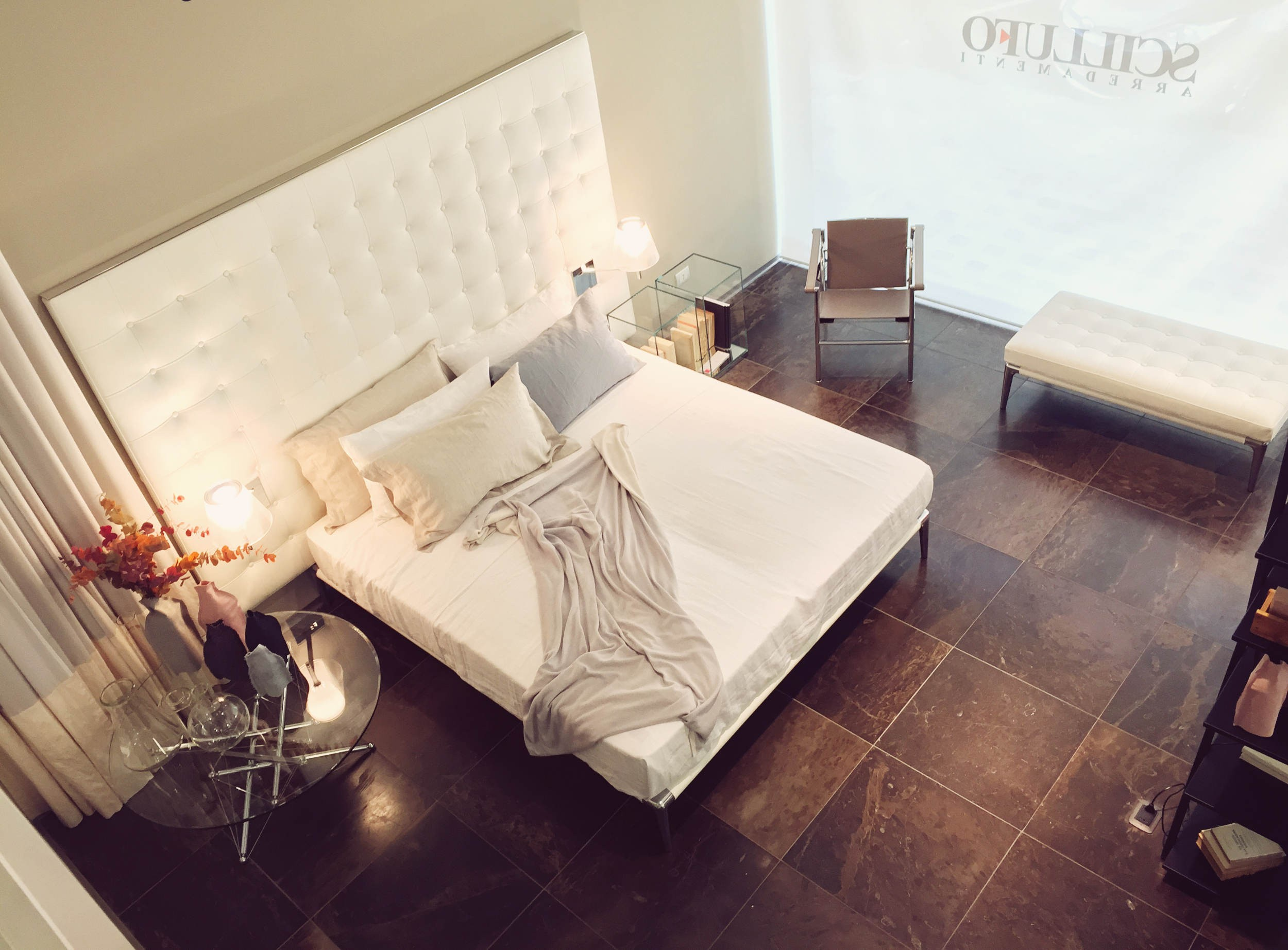 Cassina Volage L27 Leather Headboard Bed