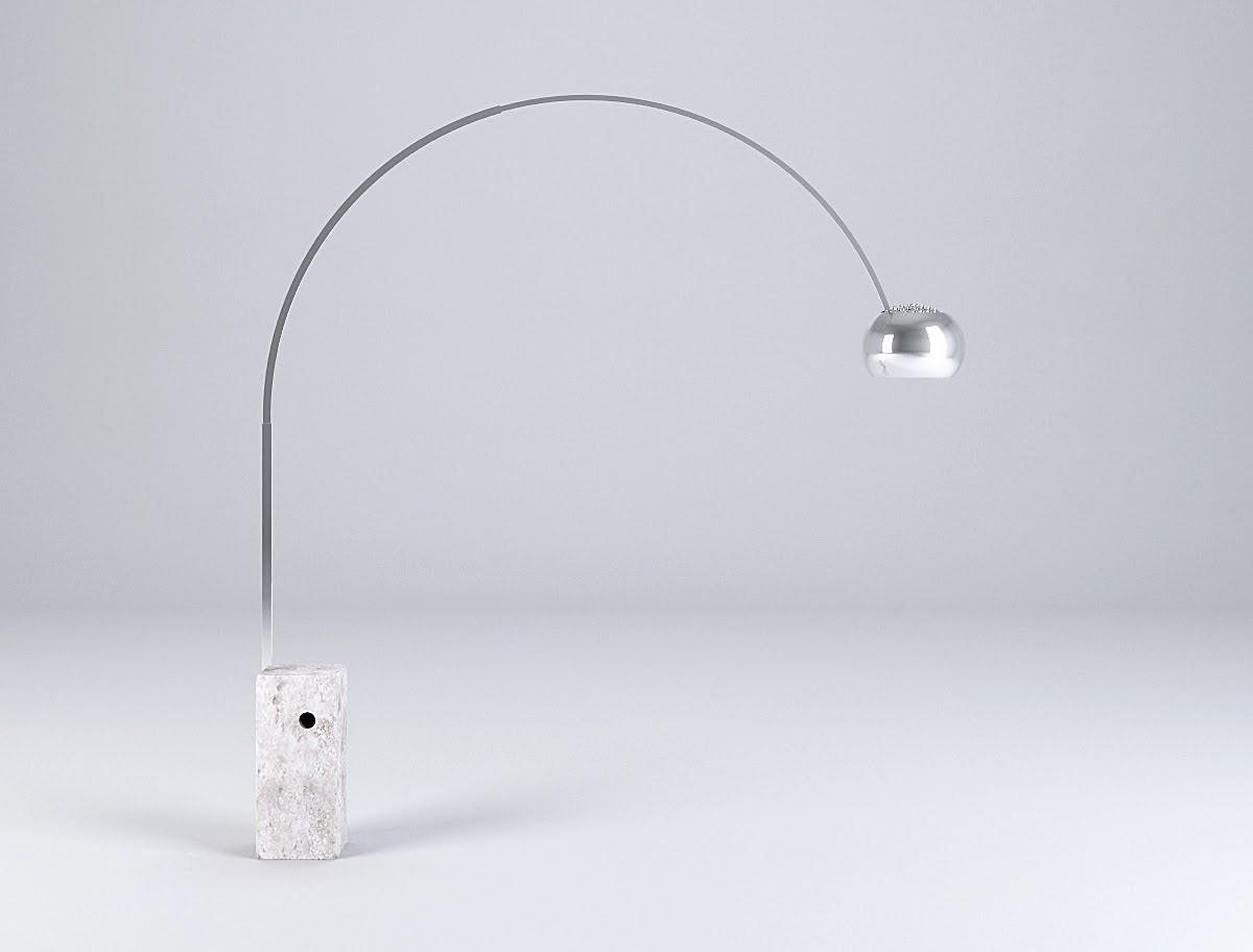 Arco lampada da terra flos acquista online for Lampada arco