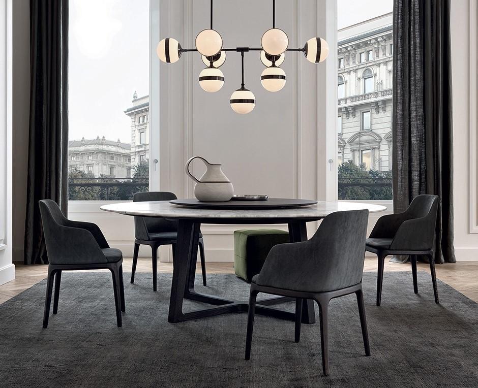 Concorde tavolo rotondo poliform acquista online for Tavolo rotondo kristalia